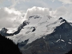 IMG_1823 (Lord Walt) Tags: park travel trees light sky white snow canada mountains ice nature rock clouds forest canon daylight nationalpark scenery view country peaceful powershot glacier alberta daytime geology tranquil jaspernationalpark columbiaicefield canadianrockies athabascaglacier hwy93 theicefieldsparkway waltphotos lordwalt sx30is