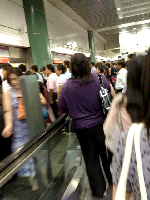 The crowd at Sengkang MRT Station, March 15, 2012