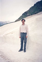 Abu at Naran (Year 1989) (Ameer Hamza) Tags: snow standing getty abu hanif fototrove ameerhamzacollection hanifadhiacollection