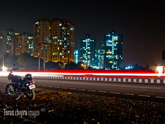IMG_0092 Valley view Estate Gurgaon (Tarun Chopra) Tags: night canon long expose bullet gurgaon motorcyle s100 canons100 canonpowershots100