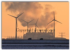This Climate requires Energy.... (powerfocusfotografie) Tags: winter sky cold industry netherlands colors weather energy factory smoke energie silhouettes windmills powerplant groningen climate henk weer koud windturbines eemshaven klimaat nikond90 powerfocusfotografie mygearandme