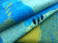 Different weights of silk and cotton give different effects in a nuno wrap (Clasheen) Tags: wool felting silk felt merino nicolabrown feltscarf nunofelt clasheen nunofeltscarf nunofeltwrap feltwrap