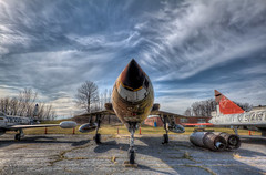Clear for Takeoff (Theaterwiz) Tags: ohio canon vintage airplane aircraft historic bomber usnavy warship topaz criswell supersonic promote photomatix thunderchief canon1022efs f105b canon7d 11exposures promotecontrol theaterwiz theaterwizphotography thethud