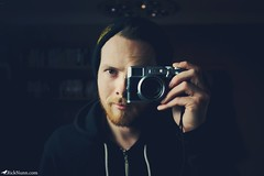 Sup (Rick Nunn) Tags: camera portrait hat self beard mirror fuji hand rick hoody nunn x100