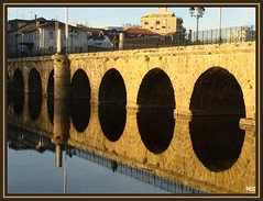 Ponte Romana (Chaves) - reflexos (Mário Silva) Tags: portugal ponte romana chaves trásosmontes tâmega ilustrarportugal