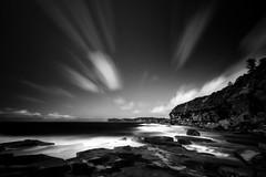 Back Haven (< Nick Friend >) Tags: longexposure bw seascape water blackwhite rocks australia nsw centralcoast terrigal northavoca skillion niksilverefex