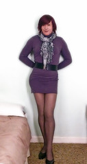 12 02 12 (Tonimacphee) Tags: legs mauve red dress toni head neck roll sweater polo macphee