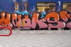 Unoks 17-02 (Holland paint) Tags: train graffiti utrecht trein