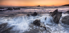 Surf's Up (paulwynn-mackenzie.co.uk) Tags: sunset sun seascape blur landscape waves sony a33 panoramic slt crashingwaves wembury
