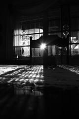 Day 50 of 365 (Elaine Whitney) Tags: light shadow sun white black texture window table chair sunburst 365 day50