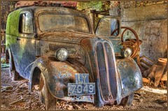 Fordson. (raghnallg (225,000+ views).) Tags: abandoned car landscape hdr fordson 5xp topazadjust