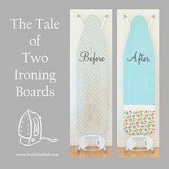 Ironing Board Makeover (Little Bluebell) Tags: little board sew fresh fabric cover makeover maman bluebell along cloud9 ironing speckle squeezed chinoserie ihavetosay