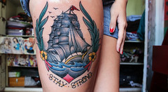 (Flavia Masson) Tags: tattoo vintage ship legs oldschool anchor strong stay