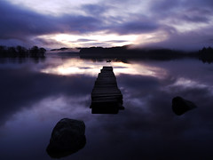 OUT OF THE BLUE (explore) (kenny barker) Tags: blue winter landscape lumix dawn scotland jetty panasonic trossachs wate lochard gf1 kinlochard panasoniclumixgf1 welcomeuk kennybarker