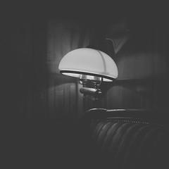 Dark light (Weisimel) Tags: light lamp restaurant blackwhite krakw cracow restauracja