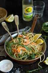 Lemon-rucola-shrimp spaghetti (bognarreni) Tags: food lemon italian shrimp pasta seafood spaghetti rucola foodphotography foodstyling