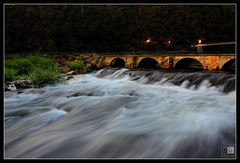 Water flowing under bridge (darreng2011) Tags: longexposure bridge water canon eos lights stream tasmania flowing hdr launceston cataractgorge 600d mygearandme mygearandmepremium flickrstruereflection1 flickrstruereflection2