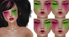 *BOOM* 1L eye paint set. (Aranel Ah *BOOM* Clothing Co.) Tags: cherry boom watermelon sl secondlife cosmetics