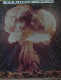 From http://www.flickr.com/photos/74822643@N07/6978117623/: Nuclear test mushroom cloud 1950s