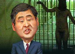 John Yoo - Caricature