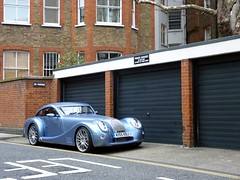 No Parking (BenGPhotos) Tags: blue max car fast panasonic exotic british morgan rare supercar v8 spotting dmc aero aeromax fz38 dmcfz38 ki55kbj
