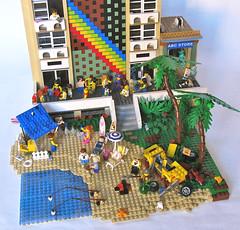 Waikiki Wonders (Imagine) Tags: beach toys hotel lego waikiki minifigs moc abcstore foitsop imaginerigney 2012mocathalon