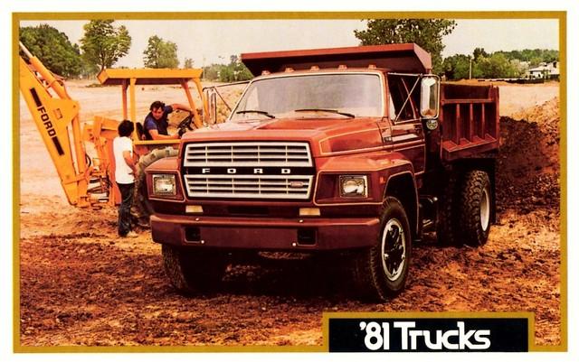 ford truck postcard duty dump 1981 medium fseries