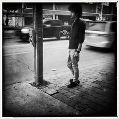 Hipstamatic 21 (Richard Pilon) Tags: street blackandwhite toronto candid streetphotography iphone iphone4 iphoneography hipstamatic