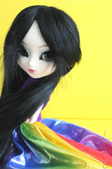 Ryoko [Naomi] (LinaLinos) Tags: cute rainbow colorful doll dolls feather naomi pullip pullips blackfeather junplanning rainbowdress pullipnaomi