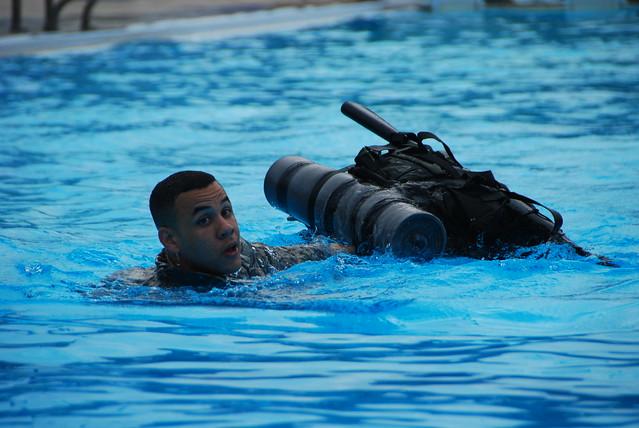 Warriors test their water survival skills