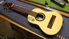 This curious little instrument is a Cavaquinho and it's in for a new pickup system (Jack's Instrument Services) Tags: salford luthier the fre guitartech brokenheadstock headstockbreak lowaction guitarrepairs guitaraction talesfromtheworkbench guitarsetups guitarrepairermanchester pickuprewind pickupwinding guitarsetupmanchester