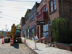 ABEEL STREET IN RONDOUT (richie 59) Tags: street city urban usa streets building america buildings outside us spring unitedstates oldbuildings sidewalk kingston vehicles newyorkstate sidewalks oldbuilding roadwork brickbuilding rundown nystate hudsonvalley citystreet kingstonny rondout ulstercounty smallcity midhudsonvalley americancity 2013 ulstercountyny americanbuilding 2010s richie59 april2013 rondoutny april272013