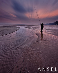 The Caster (draken413o) Tags: life morning people beach sunrise singapore tide low silhouettes coastal changi waterscapes cp6