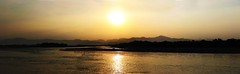 Come forth into the Light (RahulSharma) Tags: bridge panorama india love river pull tourist divine holy spiritual baba ganga saffron ganges maa rishikesh sages haridwar sahu