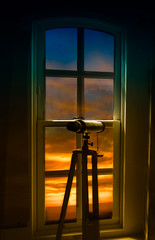 LIGHTHOUSE WINDOW (bydamanti) Tags: sunset oregon telescope sunrisesunsetanythingsun sunrisesandsunsets oregonlighthouses umpquariverlight spartacuseyeswithoutchains masterclassexhibition oregoncoastdigitalphotography thenewmasterclass