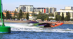 Mike Beil & Chris Hanley, Global Racing, 2013 Offshore Superboat Championship, Rd 1, Newcastle Harbour, NSW, AUS (BrettMichaels Images) Tags: chris mike race newcastle 1 championship harbour offshore meeting f1 powerboat rd round1 foreshore hanley beil globalracing superboat