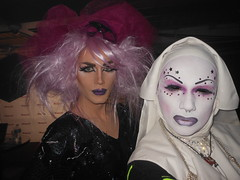 SISSY SPASTIC and SAL-E on 3-22-2013 (SAL-E) Tags: chicago castle club sisters artist glow sale painted clown ghost makeup freak nightlife friday creature couture sanctuary clubkid haut clubcreatures clubcreature freakdrag 20130322sanctuary