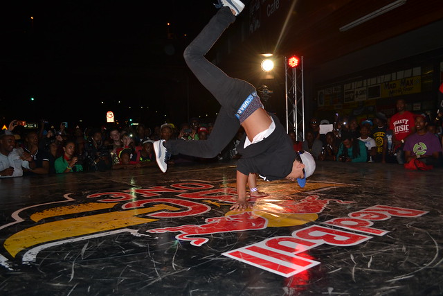 Breakdancing at the Freedom Day Festival.