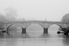 Richmond Bridge (jonron239) Tags: morning bridge mist london thames river richmond