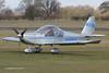 G-EMLE - 2004 build Aerotechnik EV-97 Eurostar, arriving at the 2013 Halfpenny Green Easter Fly-in (egcc) Tags: white easter eurostar microlight flyin wolverhampton ev97 halfpennygreen egbo aerotechnik rotax912 gemle pfa31514251