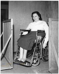 polio chair (jackcast2015) Tags: polio infantileparalysis poliomylitis braces braced calipers handicapped disabledwoman crippledwoman wheelchair
