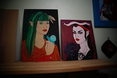 WIP paintings (cedar*heart) Tags: art colorful folkart gothic