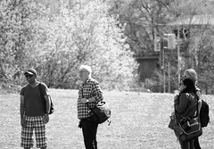 Sunny Day Smiles (Honey Agarwal) Tags: road camera people bw sun white toronto canada black beautiful walking photography photo perfect shot group smiles sunny talking bnw clicks topw topwsw