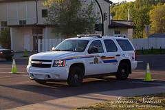 RCMP Chevy Tahoe (S. Neilson Photography) Tags: red chevrolet fire accident tahoe deer chevy alberta vehicle motor rcmp department mva collision mvc