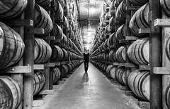 Whisky Warehouse (raisinsawdust - (aka: tennphoto)) Tags: bw nikon barrels tennessee storage warehouse d750 whisky process aging distillery distiller 2016 nikond750