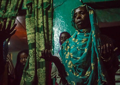 Sufi women go into a trance during a ceremony, Harari region, Harar, Ethiopia (Eric Lafforgue) Tags: world africa travel people color green horizontal night religious outdoors togetherness dance clothing women worship veiled singing dancing african muslim islam religion praying group performance performing ceremony dancer unescoworldheritagesite celebration indoors event spirituality ethiopia sufi sufism adultsonly trance hornofafrica chanting eastafrica harar 3people abyssinia threepeople harari harariregion ethio163062