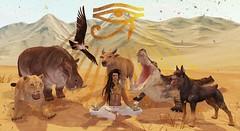 Sacred (drayton.miles) Tags: dog cat cow sand ancient jackal desert mesh alien alligator lion egypt bull sl secondlife egyptian falcon crocodile sacred horus second hippo doberman ra anubis mudo