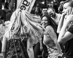 Rocking Out... (micadew) Tags: street urban blackandwhite bw hot sexy hair blackwhite dancers dancing blondes longhair streetshots streetphotography streetscene blonde sacramento hottie fashionshow fashionista flirty bnw streetwear dancinggirl urbanlife urbanwear urbanshots modgirls