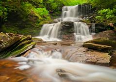 Tuscarora Waterfall (jeanineleech) Tags: trees summer usa green water creek river waterfall spring rocks stream pennsylvania pa waterfalls cascades rickettsglenstatepark ganogaglen gelnleigh tuscarorawaterfall 47footwaterfall