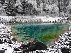 Jiuzhaigou (ChiralJon) Tags: china travel snow tourism pool nationalpark pond turquoise naturereserve  jiuzhaigou sichuanprovince